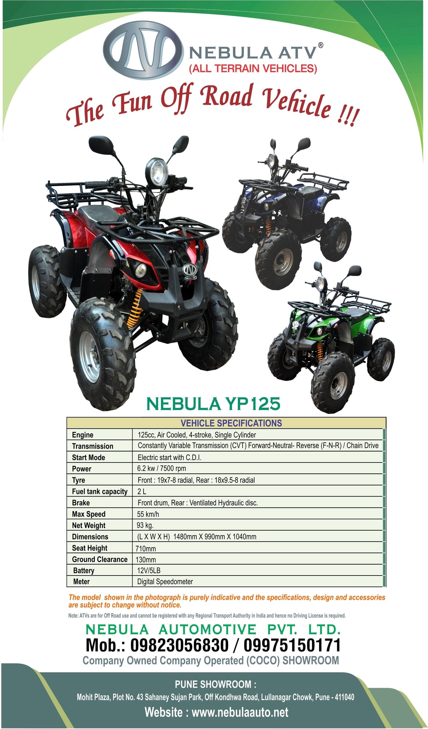Nebula Automotive – ATV Dealer in India - ATVs, quad bikes